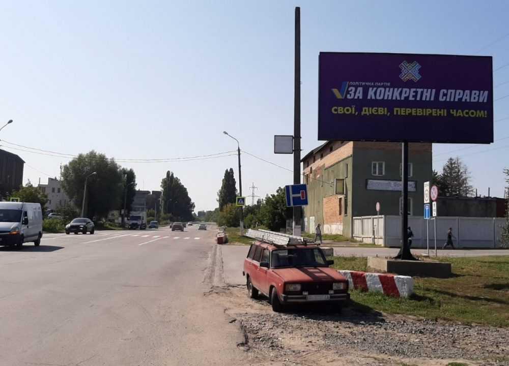 Білборд, щити на карті в Хмельницькому, Вулиця Західно кільцева, Митниця, WOG, Хмельницький