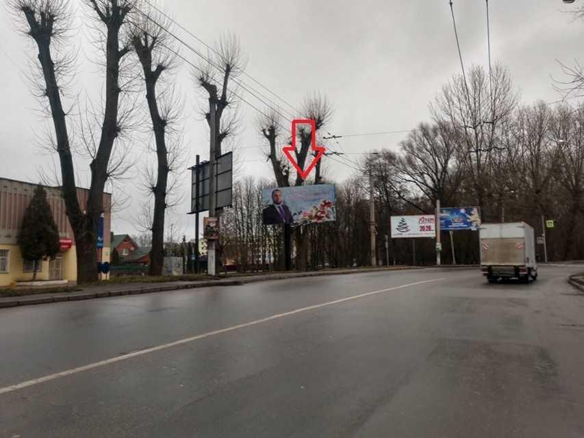 Білборд, щити на карті в Хмельницькому, Перехрестя вулиць Курчатова та Олімпійська, Хмельницький