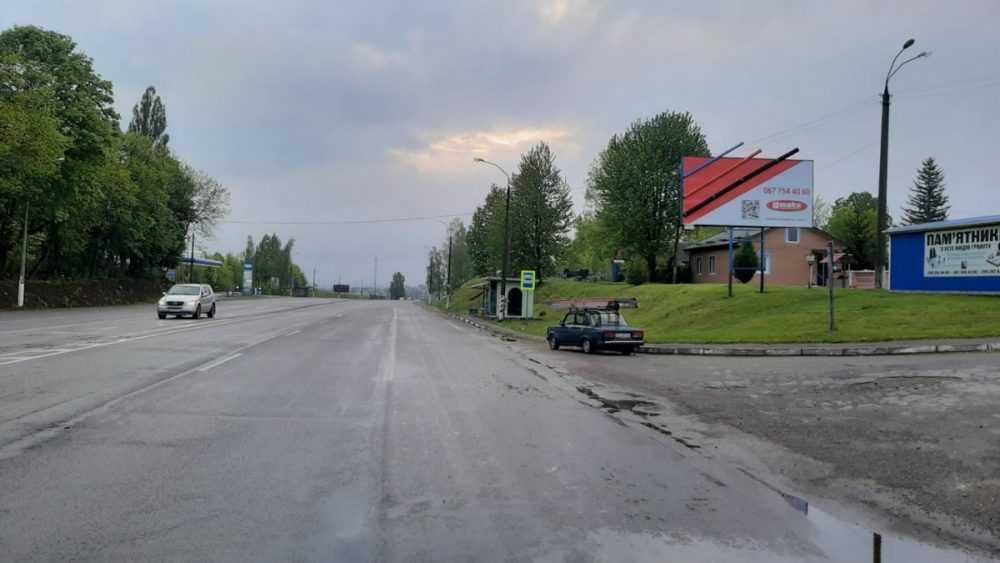 Білборд, щити на карті в Хмельницькому, В'їзд з Тернополя, Шаровечка, Хмельницький