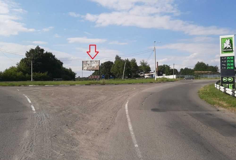 Білборд, щити на карті в Хмельницькому, В'їзд на кільце у Ярмолинцях