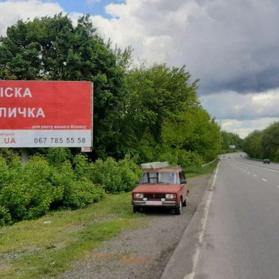 Білборд, щити на карті в Хмельницькому, В'їзд з сторони Вінниця