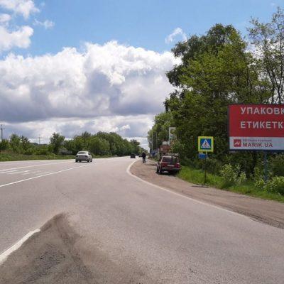 Білборд, щити на карті в Хмельницькому, Вінницьке шосе перед Давидківцями