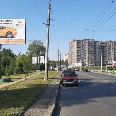Білборд, щити на карті в Хмельницькому, Вулиця Панаса Мирного, Озерна, Хмельницький